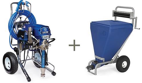 Graco Mark V ProContractor Blue Link + Bag Roller & Hopper