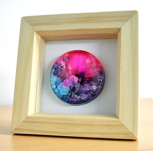 Mini Petri - Pink FRAMED (#6117)