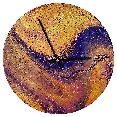 Clock - Purple & Gold (#121)