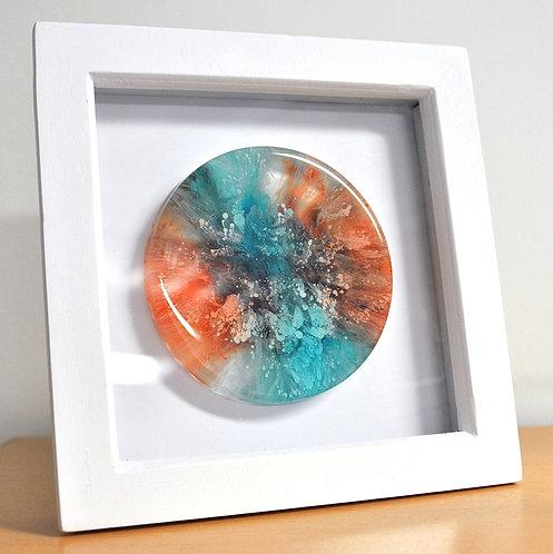 Petri Disc - Blu/Ora FRAMED (#6131)