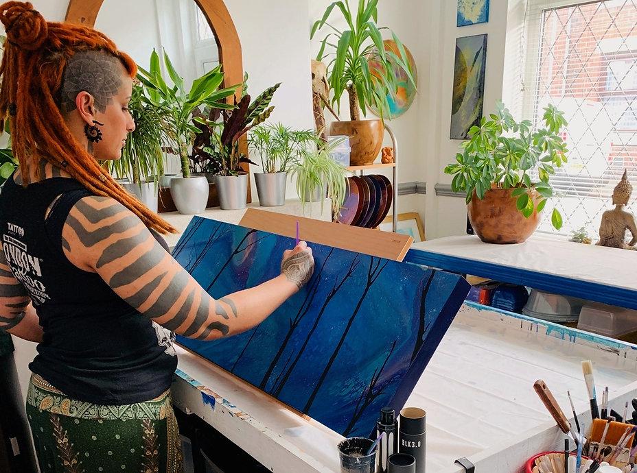 Asha Tank in the studio