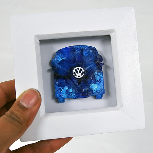Mini Camper - Blue FRAMED (#6998)