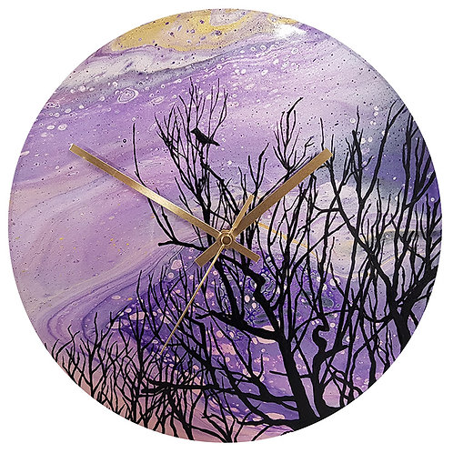 Clock - Purple Tree (#113)