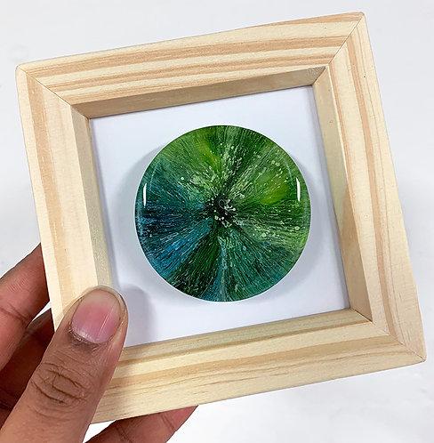 Mini Petri - Green FRAMED (#7021)