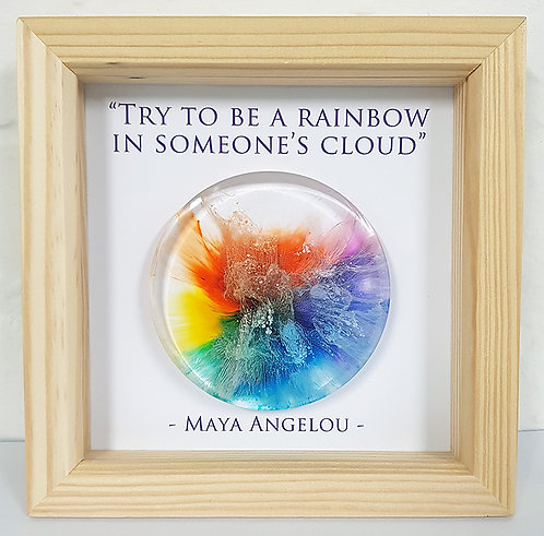 (Commission) Maya Angelou - Rainbow FRAMED (#7017)