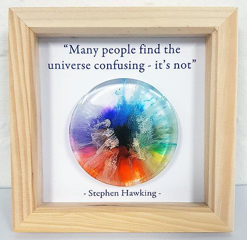 (Commission) Stephen Hawking - Rainbow FRAMED (#7016)