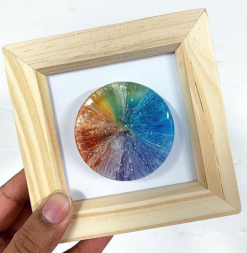 Mini Petri - Rainbow FRAMED (#7020)