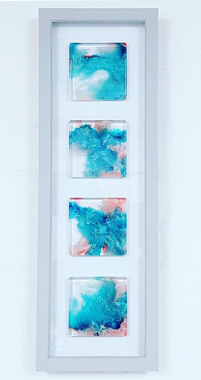 Four Petri Squares FRAMED (#6134)