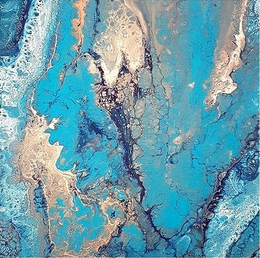 Atlas - Fluid Acrylic Pour by Asha Tank Art