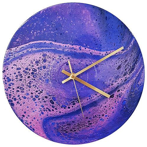 Clock - Purple & Pink (#123)
