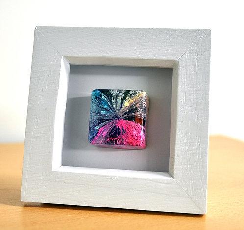 Mini Rainbow Cube - FRAMED (#6115)