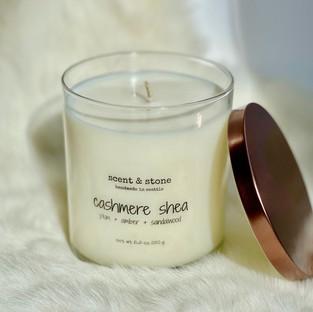 cashmere shea soy wax candle