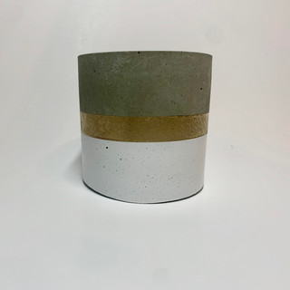 cement container white & gold
