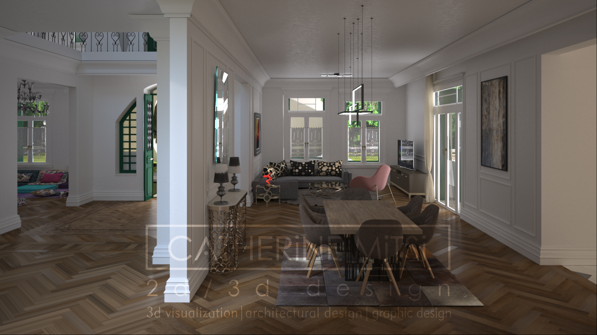 Living room νεοκλασικής οικίας