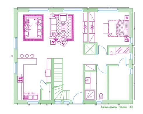 Διαμόρφωση χώρου διώροφης οικίας στη Γερμανία