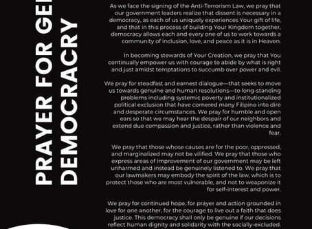 Prayer for Genuine Democracy