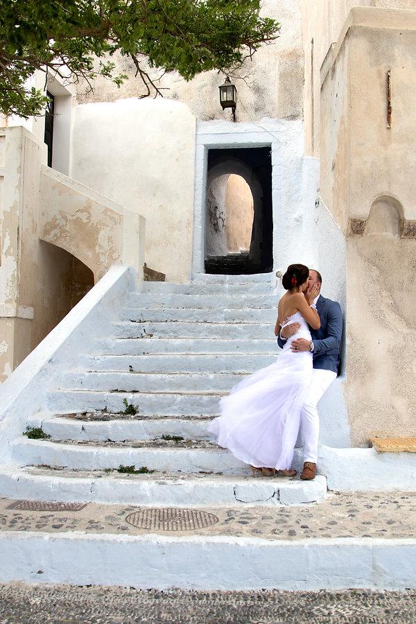 Santorini Destination WEdding Dovetail Photographer Forever Love