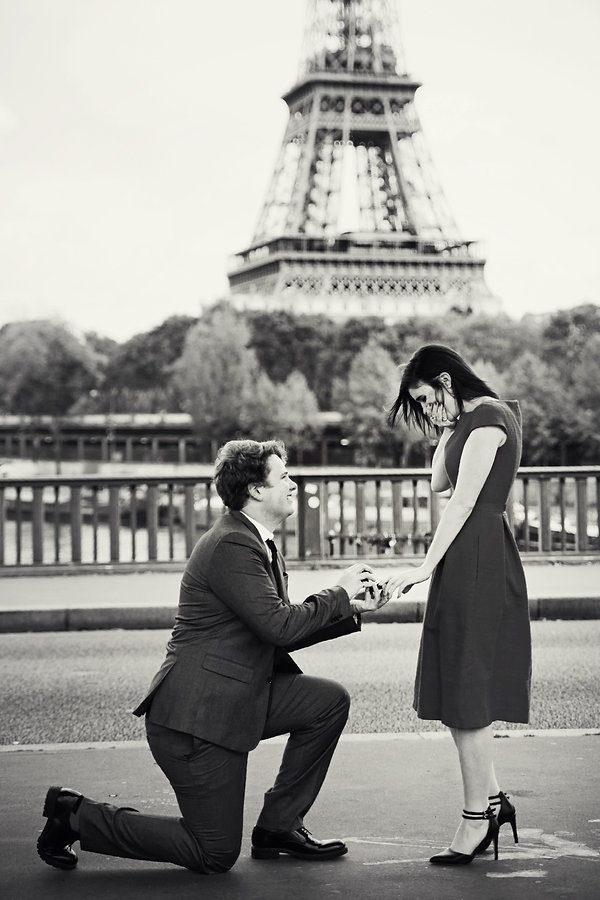 Paris Vacation Photographer Eiffel Tower Engagement