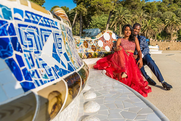 Dovetail Barcelona Spain Photographer Park Guell Black Couple