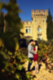 South of France Vacation Photographer Castle Kiss