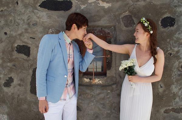Santorini Dovetail Photographer Destination Wedding Bride and Groom