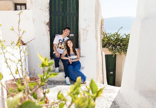 Santorini Dovetail Photographer Couple Vacation Getaway