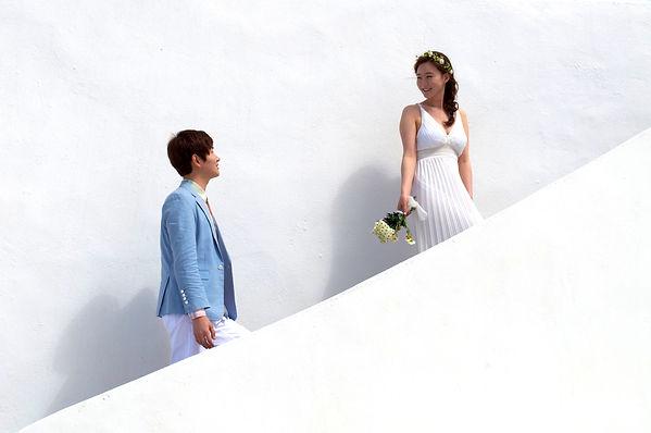 Santorini Dovetail Photographer Destination Wedding Bride
