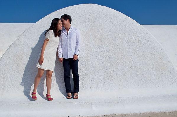 Santorini Dovetail Photographer Couple Vacation Photo Shoot