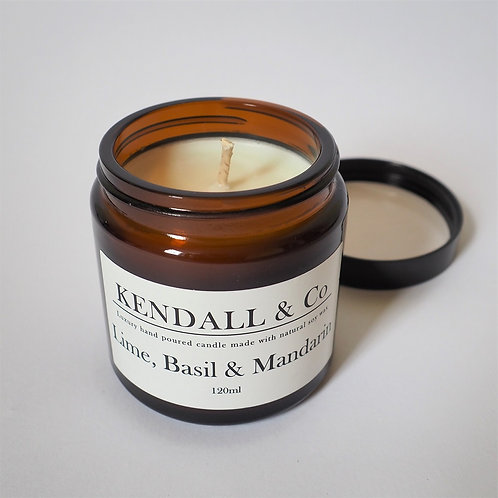 Lime, Basil & Mandarin Soy Wax Candle