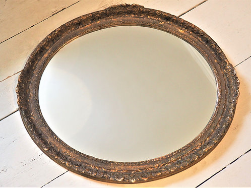 Oval Mirror With Antique Frame