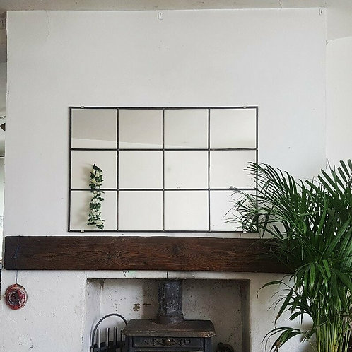 Industrial Style Leaded Window Mirror - 3 x 4