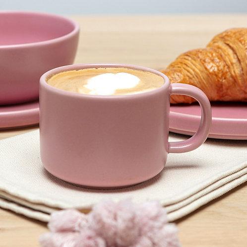 Pink Flat White Mug side view