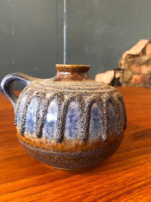 West German Vase - Fat Lava, Blue & Brown