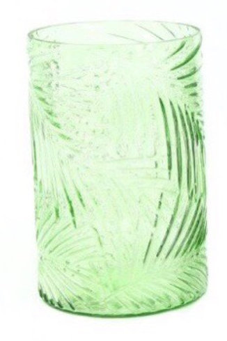 Tropical Leaf Glass Vase - Pale green