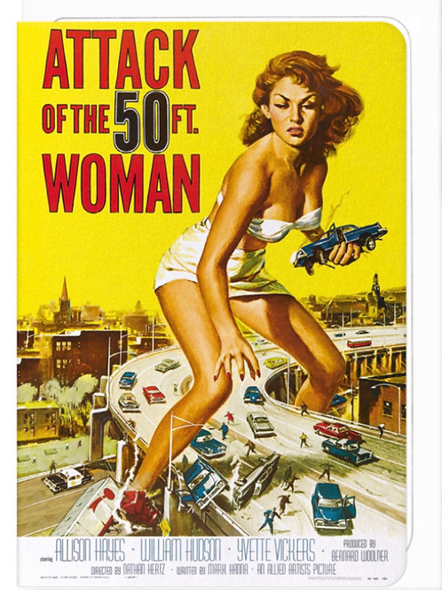 Attack of the 50 ft woman (1958) - Greetings Card