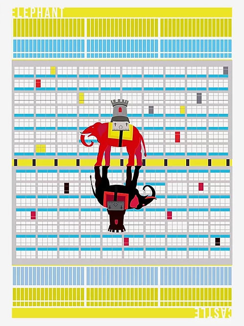 Elephant and Castle Art Print