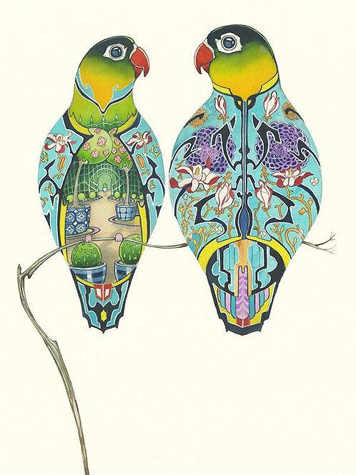 Lovebirds Greetings Card