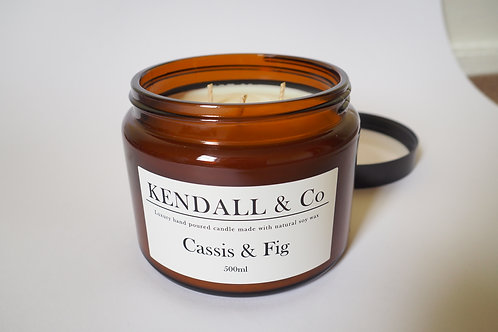 Cassis & Fig Soy Wax Candle - 500ml
