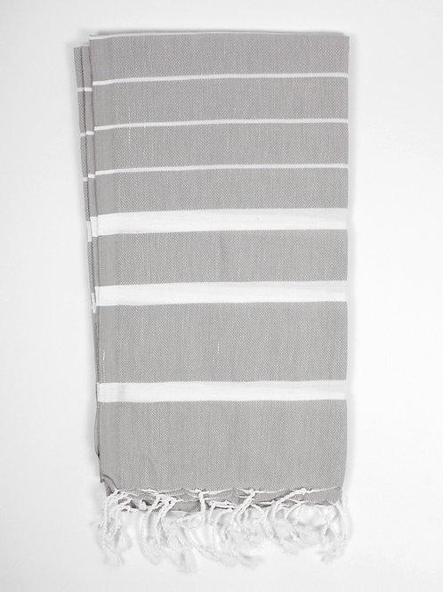 Hammam Towel - in Pale Grey