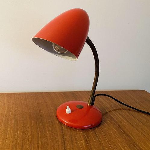 Vintage Red French Desk Lamp
