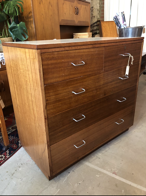 1970s Remploy Chest of Drawers with Formica top