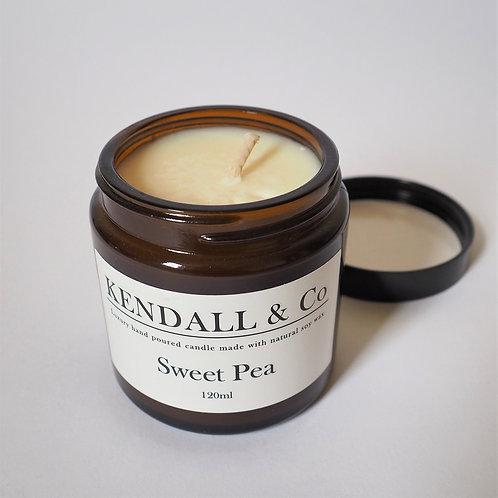 Sweet Pea Soy Wax Candle - 120ml