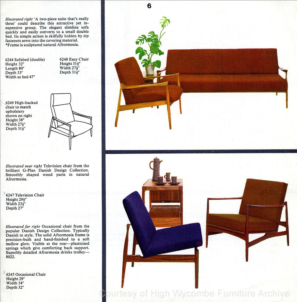 1960s G Plan Catalogue Page