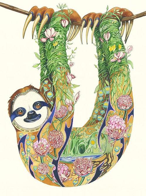 Sloth Greetings Card