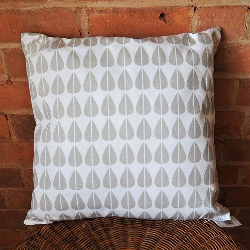 Geometric Leaf Cushion in Grey