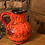 Thumbnail: Orange West German Vase Jug - 418-18