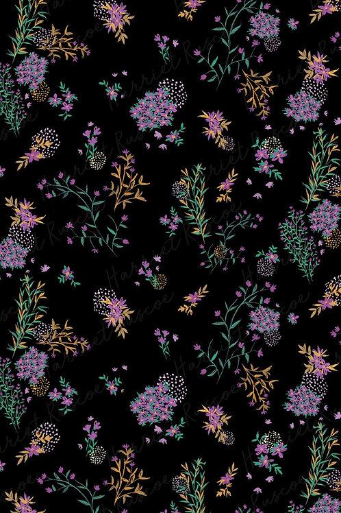 Gift Wrap - Purple Flowers