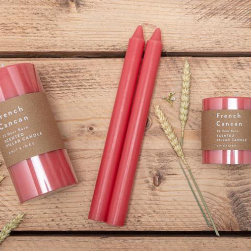 Red tapered candles