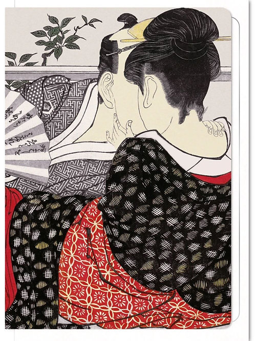Upstairs Room of a Teahouse - Greetings Card