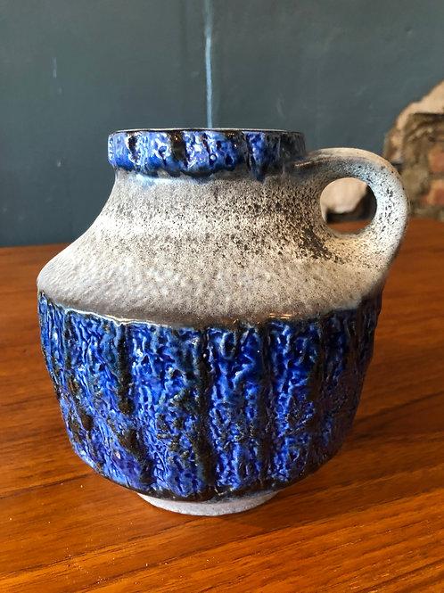 West German Vase - Blue & Grey